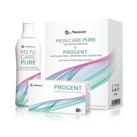 MeniCare Pure 250 ML et PROGENT de Menicon